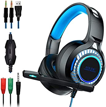 EOUER Over-Ear 3.5mm Wired Gaming Headphones