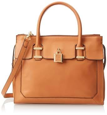 Vince Camuto Heidi Satchel Top Handle Bag,Natural,One Size