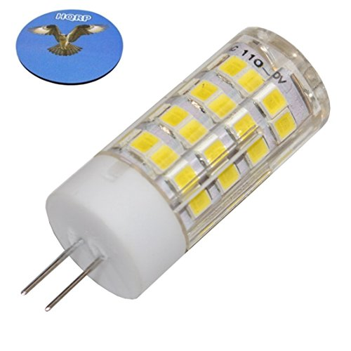 HQRP G4 Bi-Pin 52 LEDs Light Bulb SMD 2835 Cool White for Accent, Cabinet, Ceiling Fan, Chandelier, Closet, Table Lights, Vase Lamps Plus HQRP Coaster