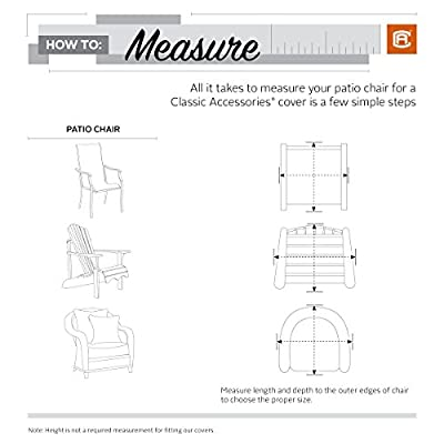 Classic Accessories Veranda Patio Lounge/Club Chair Cover - Durable and Water Resistant Patio Furniture Cover, Medium (55-643-011501-00)