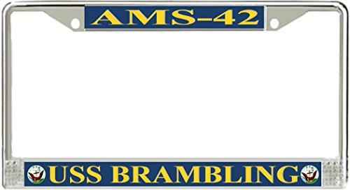 USS Brambling AMS-42 License Plate Frame