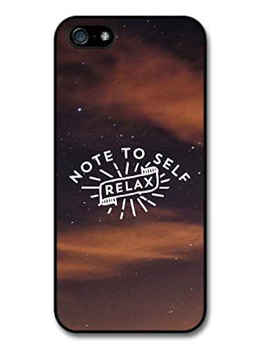 Note To Self Relax Quote Design on Cool Sunset Photo case for iPhone 5 5S