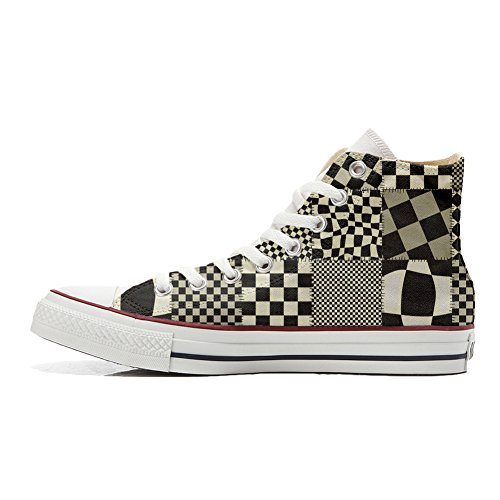 Converse All Star Hi chaussures coutume (produit artisanal) Pachtwork Texture