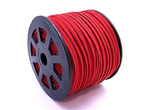 スエードレザーコード 幅3mm 赤レッド 90mx10個セット su-22x10   B00HTM3G80
