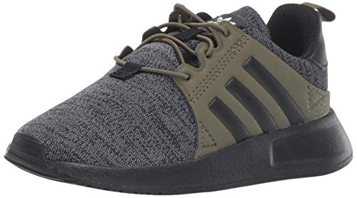 adidas Originals Unisex X_PLR Running Shoe, Dark Grey Heather/Black/raw Khaki, 4 M US Big Kid