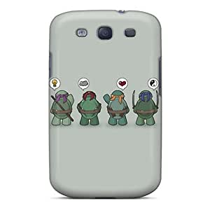 Scratch Protection Hard Phone Case For Samsung Galaxy S3 (uqD8966XnHB) Support Personal Customs High-definition Ninja Turtles Pictures WANGJING JINDA