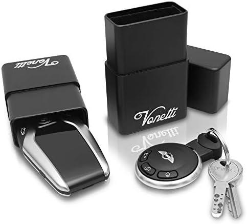 VONETTI Alpha Shield Premium Keyless Go - Caja de aluminio para llave de coche, Funda Faraday Movil, Bolsa Faraday Movil, Jaula Faraday Movil, Bloqueador de Señal RFID/NFC/GPS/WIFI: Amazon.es: Coche y moto