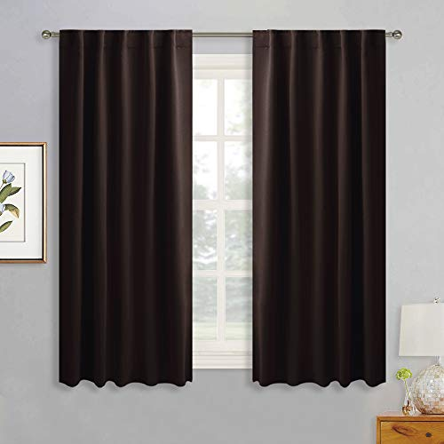 RYB HOME Blackout Curtains Drapes - Back