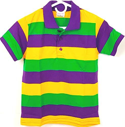 KAPLIN Child Mardi Gras Rugby PGG Shirt - Short Sleeve # 104-XXS