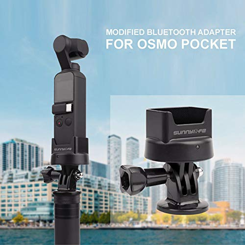 Sodoop for Blue-Tooth Adapter with Charging Port for DJI OSMO Pocket,Available for GOPRO Adapters with 1/4 in Screw