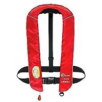 EYSON ライフジャケット インフレータブル 首かけ ベストタイプ 釣り 自動膨張式 男女兼用 救命胴衣 CE認定済