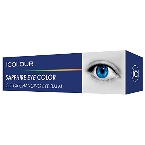 (iCOLOUR Color Changing Eye Balm - Change Your Eye Color Naturally - 1 Month Supply - 4.3 g (Sapphire))