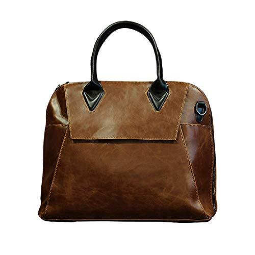 Bag Cross Bolso Business Marrón Hombre de para Pulgadas Handbag Trende Umhaengetasche Section Maletín de portátil ZHRUI 13 Marrón Leisure pCwA7xnXnq