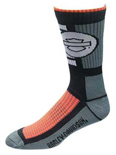 Harley Davidson Foot (Harley-Davidson Wolverine Men's CoolMax Wicking Riding Socks, Gray D99085370-020)
