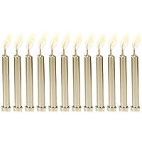 Velas de cumpleaños metálicas Biedermann 12 en los titulares, oro