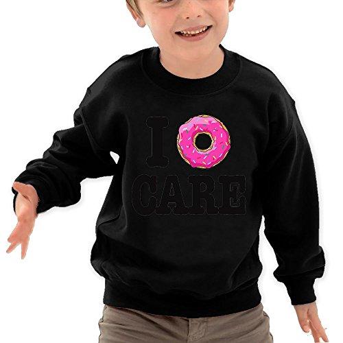 Puppylol Dount Care Kids Classic Crew-Neck Pullover Sweatshirt Black 4 Toddler (Midsummer Salad)