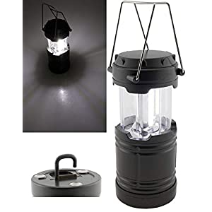 41aiEkFUEyL. SS300 ChiliTec LED Camping Laterne Batteriebetrieb 3x AA Mignon 185x85mm Magnethalter Haken I Weisses Licht