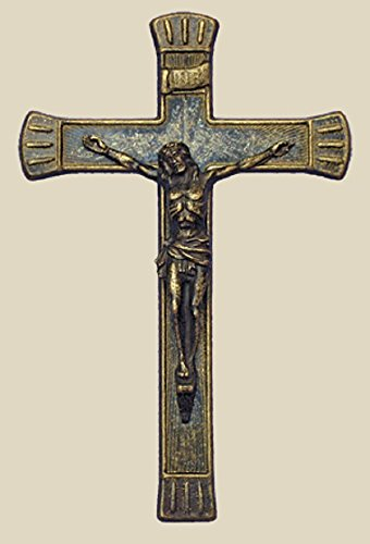 Crucifix in antiqued brass, 7.5inches. Made in Italy. by GSV001
