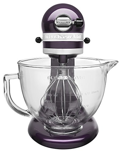 KitchenAid KSM155GBPB 5-Qt. Artisan Design Series with Glass Bowl - Plumberry by KitchenAid (Image #1)