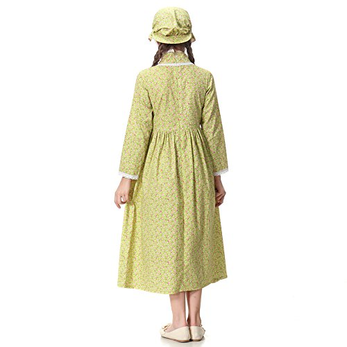 Pioneer Girl Costume Colonial Prairie Dress for Kids 100% Cotton,US14 by KOGOGO (Image #6)