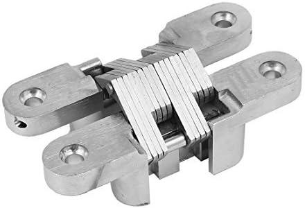 DealMux Gabinete correderas de armarios de puerta 95 mm Longitud de plegado Cruz Ocultos Bisagra tono de plata: Amazon.es: Bricolaje y herramientas