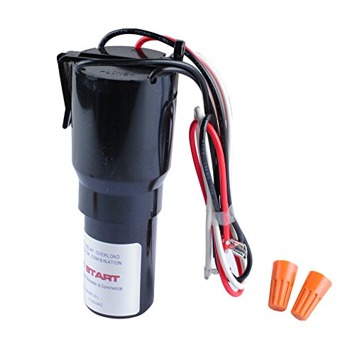 Podoy RCO810 3 in 1 Hard Start Kit Compatible with Supco Relay Capacitor Overload 1/12-1/5 HP, 110-125VAC ()