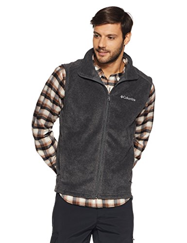 Columbia Men's Steens Mountain Vest, Charcoal Heather, (Mens Vest)