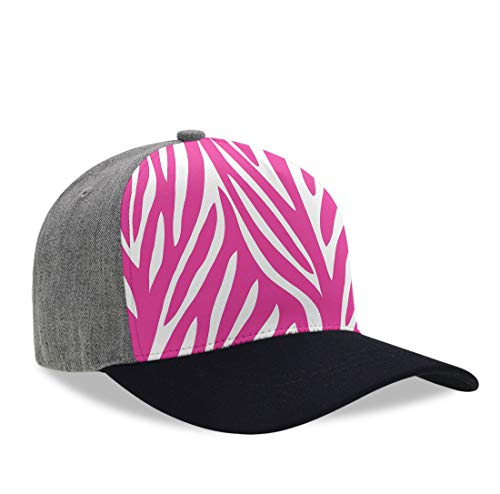 (YongColer Unisex Adult Casual Baseball Cap Pink Zebra Print Snapback Cap, Moisture Wicking Breathable Dad Hat Casquette Hats Hip-Pop Relaxed Fit Trucker Hat for Baseball Golfes)