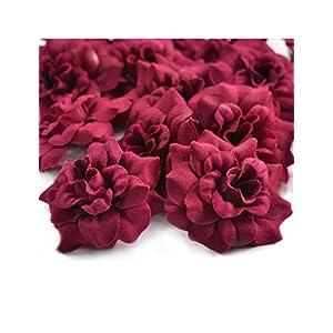Zacoo Silk Roses Artificial Silk Flower Heads 58