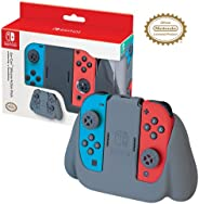Officially Licensed Nintendo Switch Joy-Con Action Pack Grip and Thumb Buttons – Grey Textured Silicone