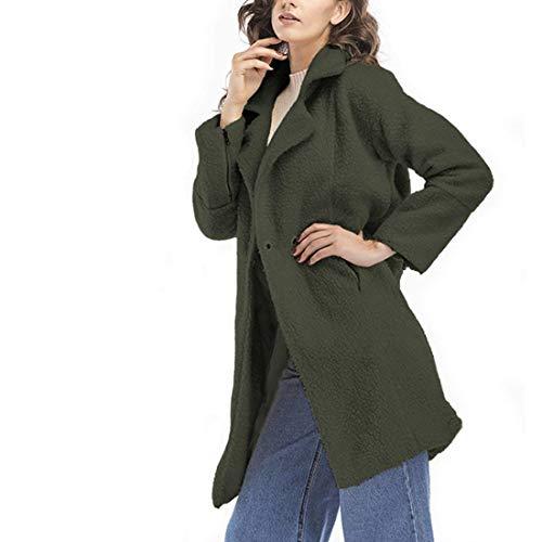 Parka Sólido Otoño Fashion Gabardina Elegante Abrigo Color Cashmere Larga  Fit Modernas Lana Slim Manga De Mujer Abrigos Invierno ... 3b5e391b0987