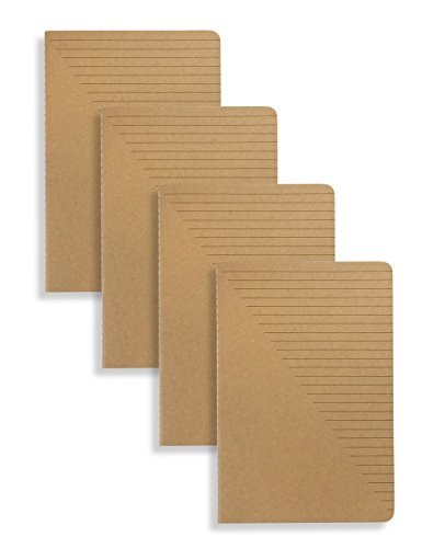 Miliko A5 Kraft Paper Series A5 Softcover Notebooks/Journals/Diary Set-4 Items Per Pack(Ruled)