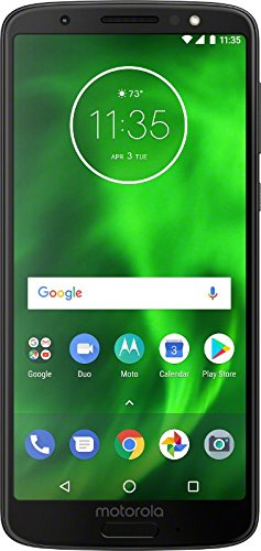 [해외]모토로라 모토 G6 공장 언락 전화 - 5.7 스크린 / Motorola G6 - 32 GB - Unlocked (AT&TSprintT-MobileVerizon) - Black - (U.S. Warranty) - PAAE0000US