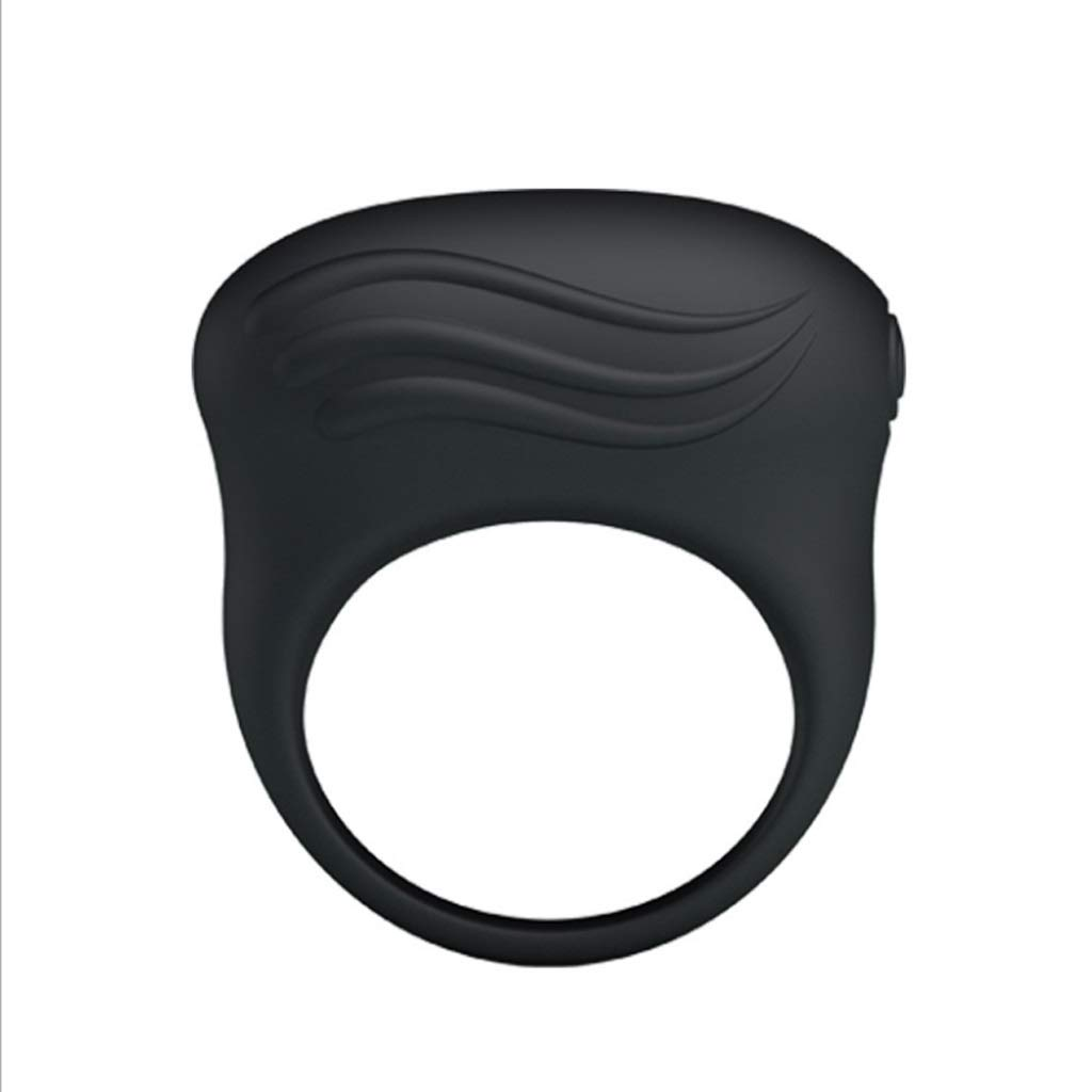 CS Lock Fine Vibration Ring Silicone Waterproof Mute Strong Vibration Massage Collar