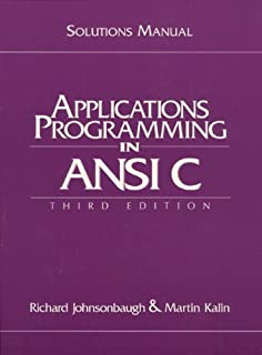 Amazon applications programming in ansi c 3rd edition student solutions manual fandeluxe Image collections
