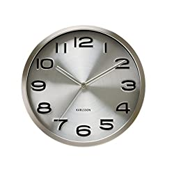 Karlsson Steel Wall Clock - Modern Decorative Clock for Kitchens and Home Decor