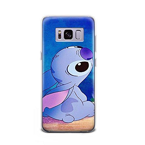 GSPSTORE Galaxy S8 case Lilo & Stitch Cartoon Cute Case Soft Transparent TPU Protector Cover Compatible with Galaxy S8#Color 10