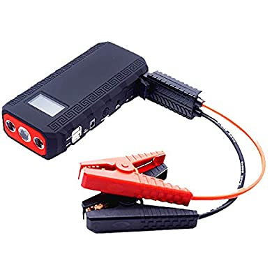AWAKMER 12V Portable Car Jump Starter with Smart Jumper Cables Auto Battery Booster Power Pack