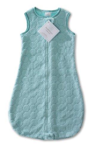 SwaddleDesigns Sleeping Zipper Turquoise Circles