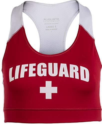 - Lifeguard Sports Bra | Women's Lifeguarding Swimsuit Swim Suit Uniform Beach Top-(Bra,L)