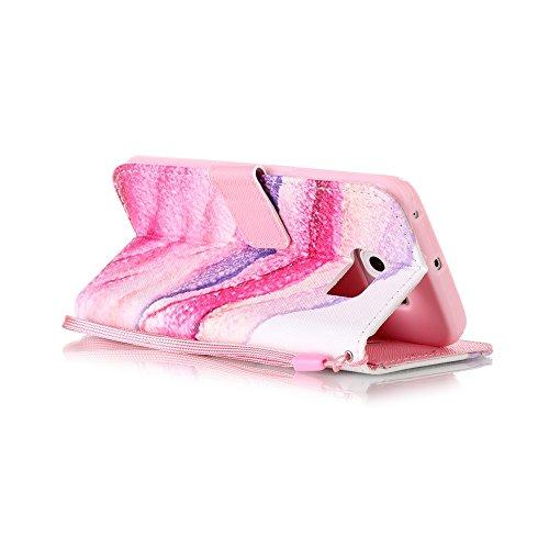 Sunroyal ® Funda Galaxy S6 Edge Carcasa Cuero Tapa Leather Wallet Ultra Slim Case Cover PU Piel Wallet Style Flip Cierre Magnético y Función de Soporte Billetera con Tapa para Tarjetas Caja del Teléfo A-06