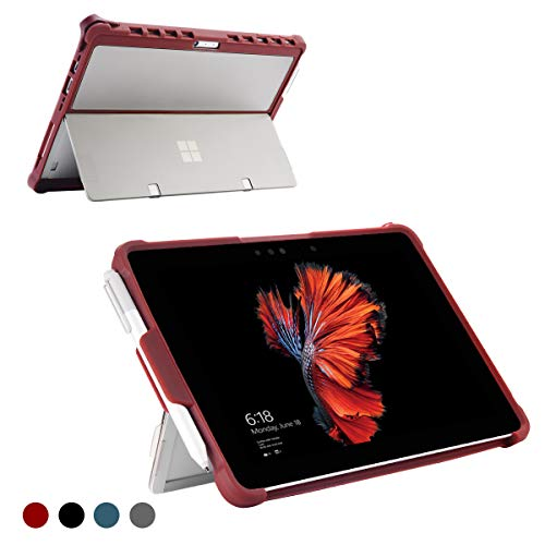 Youtec for Surface Pro 6 Case, Surface Pro 5 Case, Surface Pro 4 Case, Shockproof Rugged Folio Stand Protective Cover with Kickstand Case+Pencil Holder Compatible Microsoft Surface Pro 6/5/4(Burgundy)