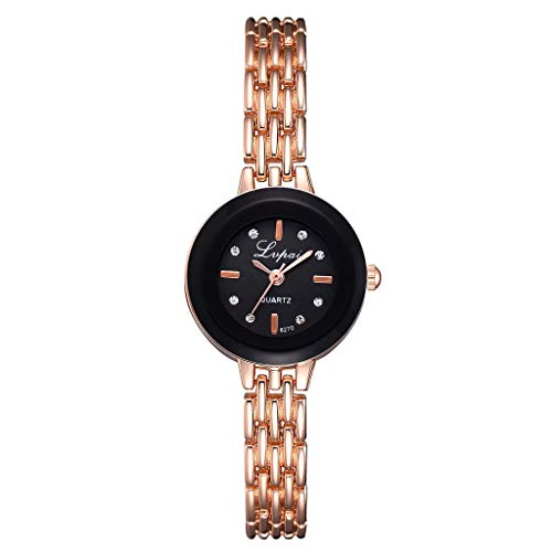 Qingell Watches Simple Casual Fashion Thick Outer Ring Small and Exquisite Female Bracelet Watch (A, one Size) - Bracelet Strand Open Heart