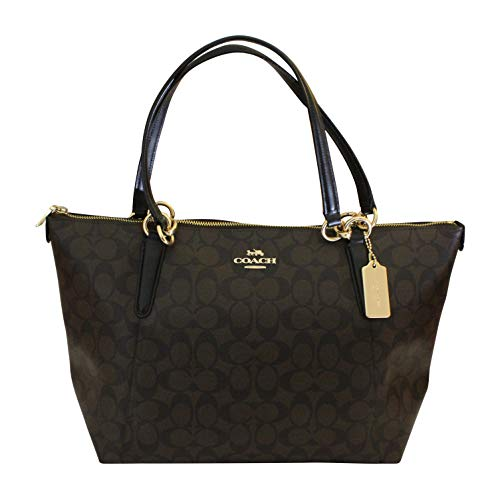 Coach Ava Tote in Signature Brown/Black/Gold ()