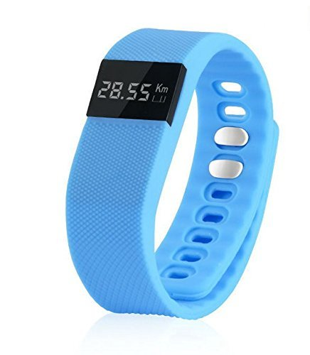 Zgood 2pcs BW64 Bluetooth Smartband Mi Band Sports Smart Bracelet Wristband Fitness Tracker Blue
