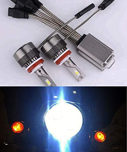 Super Bright Harley Headlight Dual-bulb LED Kit for Street Glide,Road King or CVO With 2 Bulb ()