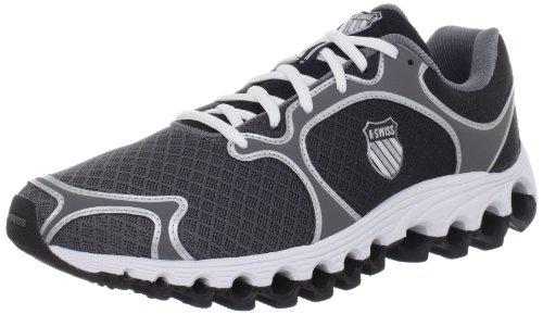 K-Swiss Men's Tube 100 Dustem Running Shoe,Charcoal/Black Fade,10 M US