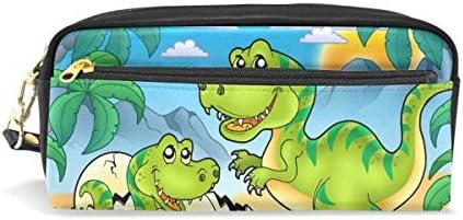 Bonipe - Estuche para lápices de dinosaurios con diseño de dibujos animados: Amazon.es: Oficina y papelería