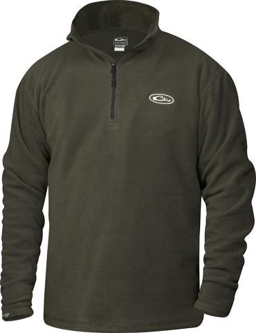Camp Fleece 1/4 Zip Pullover in Moss by Drake (Drake Duck Hunting)