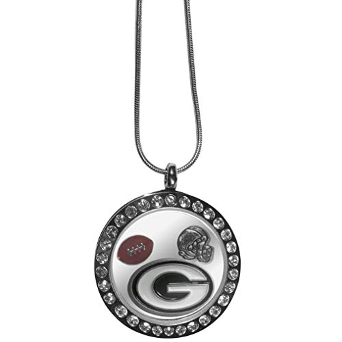 Siskiyou NFL Green Bay Packers Womens Locket Necklace, Metal, 18